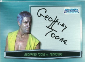 Doctor Who Big Screen -  A13 Geoffrey Toone as Temmosus trading card 10654